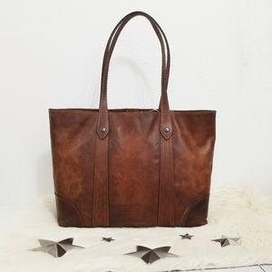 Frye Melissa Shopper Tote bag Cognac brown leather